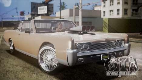 GTA 5 Vapid Chino IVF für GTA San Andreas zurück linke Ansicht