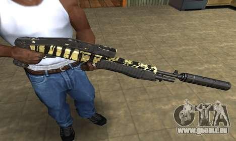 Gold Lines Combat Shotgun für GTA San Andreas