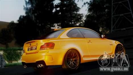 BMW 1M E82 v2 pour GTA San Andreas vue de dessus
