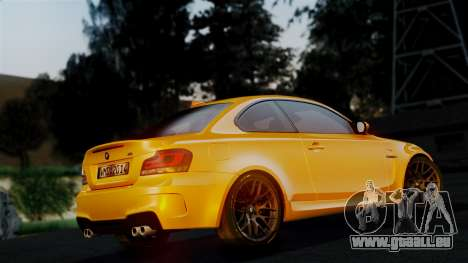 BMW 1M E82 v2 für GTA San Andreas obere Ansicht