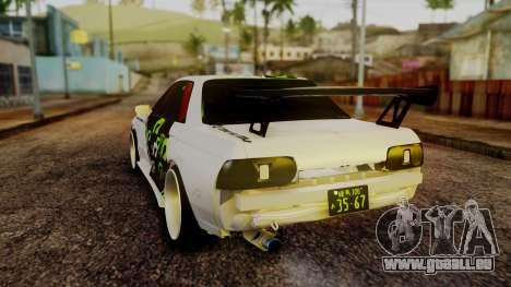 Nissan Skyline R32 Speedhunters pour GTA San Andreas sur la vue arrière gauche
