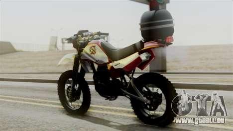 Yamaha DT 180 BM-RS pour GTA San Andreas laissé vue