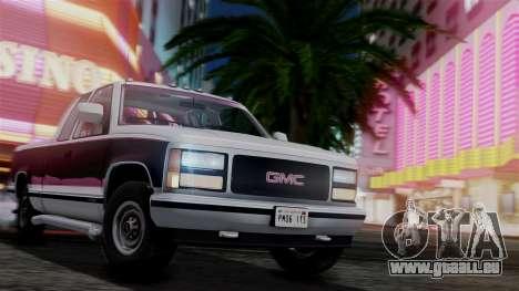 GMC Sierra 2500 Extended Cab 1992 pour GTA San Andreas vue de côté
