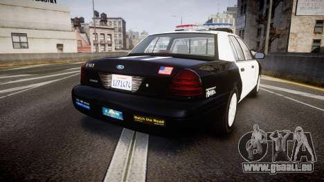 Ford Crown Victoria 2011 LAPD [ELS] rims1 pour GTA 4 Vue arrière de la gauche