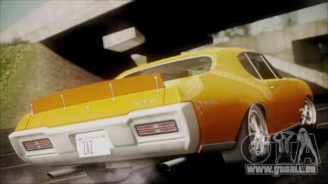 Pontiac GTO 1968 pour GTA San Andreas laissé vue