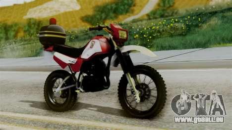Yamaha DT 180 BM-RS pour GTA San Andreas