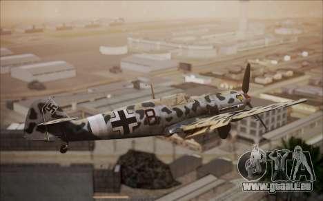 Messerschmitt BF-109 E3 pour GTA San Andreas sur la vue arrière gauche