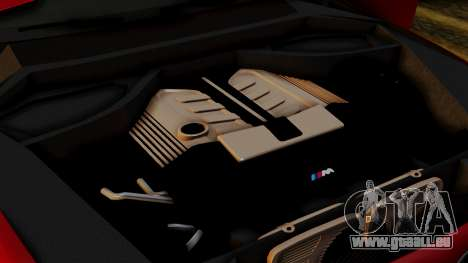 BMW 7 Series F02 2013 pour GTA San Andreas vue de dessous