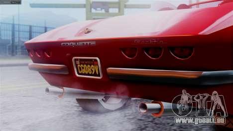GTA 5 Invetero Coquette BlackFin IVF pour GTA San Andreas sur la vue arrière gauche