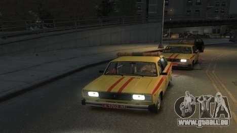 À l'AIDE de 2105 Gorsvet pour GTA 4 Vue arrière de la gauche