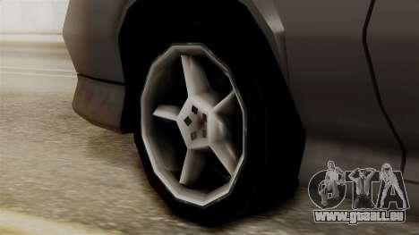 Buffalo New Edition pour GTA San Andreas sur la vue arrière gauche