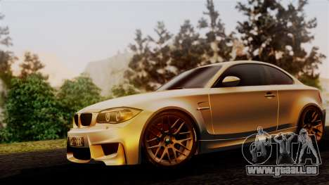 BMW 1M E82 v2 für GTA San Andreas Rückansicht