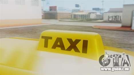 Stratum Taxi pour GTA San Andreas vue de droite