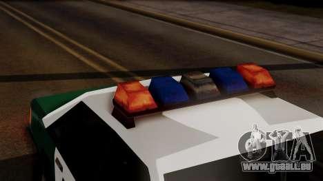 VCPD Cruiser pour GTA San Andreas vue arrière
