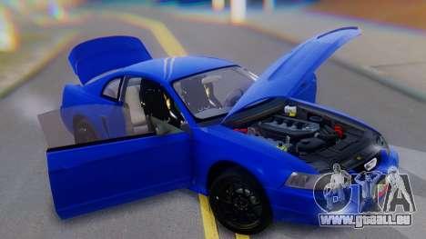Ford Mustang 1999 Clean pour GTA San Andreas vue de dessous