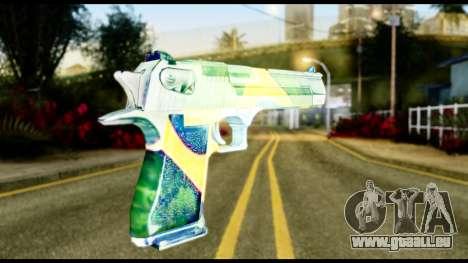 Brasileiro Desert Eagle pour GTA San Andreas deuxième écran