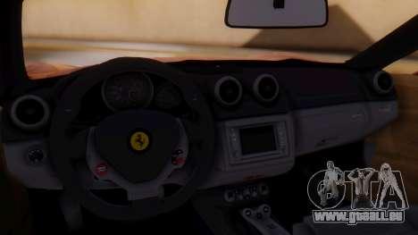 Ferrari California v2.0 für GTA San Andreas Rückansicht