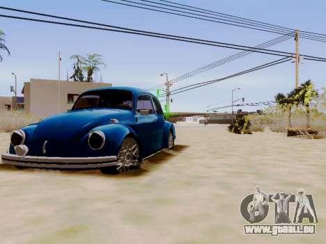 Volkswagen Beetle 1980 Stanced v1 pour GTA San Andreas vue arrière