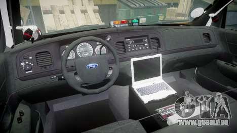 Ford Crown Victoria 2011 LAPD [ELS] rims1 pour GTA 4 Vue arrière
