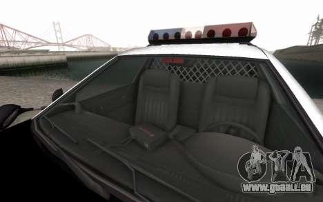 GTA 5 Stanier Police pour GTA San Andreas vue intérieure