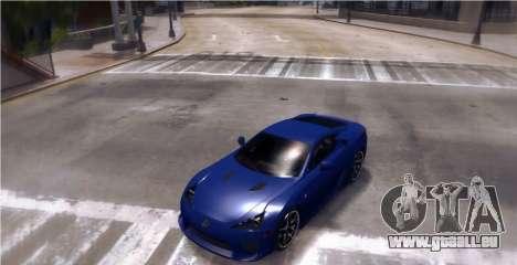 Lexus LF-A 2010 [EPM] pour GTA 4 Vue arrière de la gauche