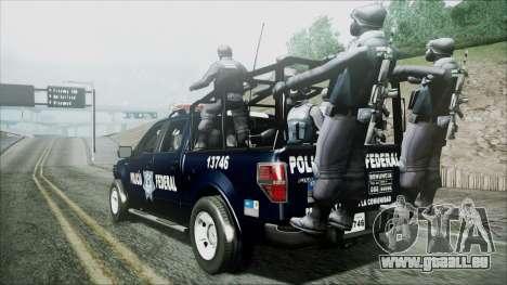 Ford Pickup Policia Federal pour GTA San Andreas laissé vue