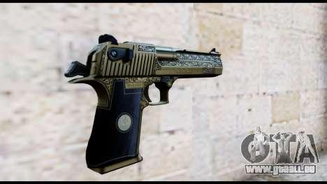 Golden Engraved Desert Eagle für GTA San Andreas zweiten Screenshot