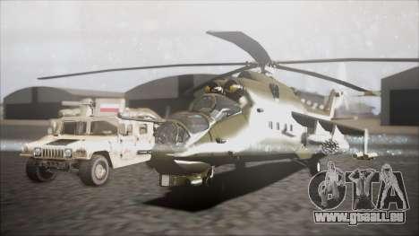 Mil Mi-24W Polish Land Forces pour GTA San Andreas