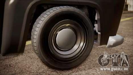 GTA 5 Vapid Slamvan Pickup pour GTA San Andreas sur la vue arrière gauche