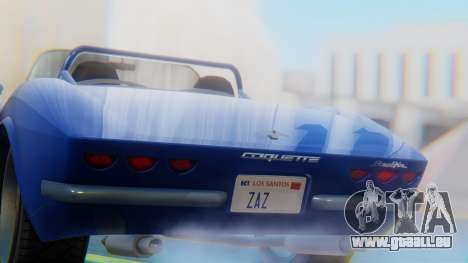 Invetero Coquette BlackFin Convertible pour GTA San Andreas vue arrière