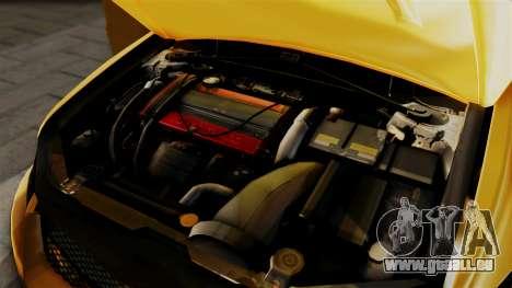 Mitsubishi Lancer Evolution 2015 pour GTA San Andreas vue arrière