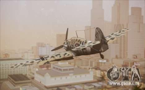 Messerschmitt BF-109 E3 pour GTA San Andreas laissé vue