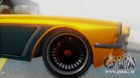 Invetero Coquette BlackFin Not Convertible für GTA San Andreas zurück linke Ansicht