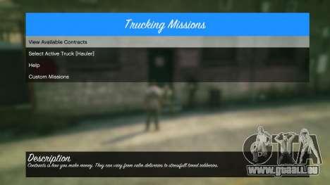 GTA 5 Trucking Missions 1.5 sixième capture d'écran