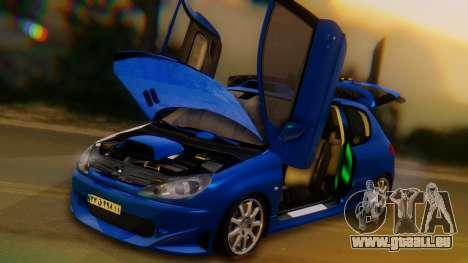 Peugeot 206 Full Tuning pour GTA San Andreas vue de côté