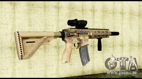 HK416 SOPMOD pour GTA San Andreas deuxième écran