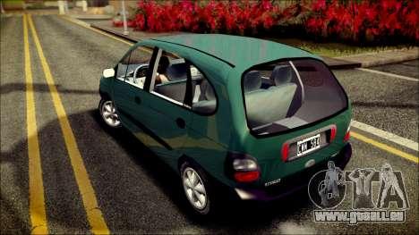 Renault Megane Scenic pour GTA San Andreas sur la vue arrière gauche