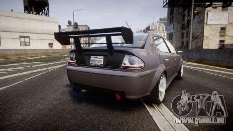 Declasse Premier RT pour GTA 4 Vue arrière de la gauche