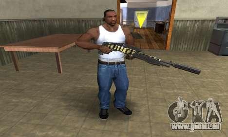 Gold Lines Combat Shotgun pour GTA San Andreas troisième écran