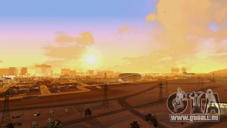 Skybox Real Stars and Clouds v2 pour GTA San Andreas deuxième écran