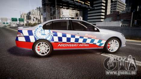 Ford Falcon FG XR6 Turbo Highway Patrol [ELS] für GTA 4 linke Ansicht