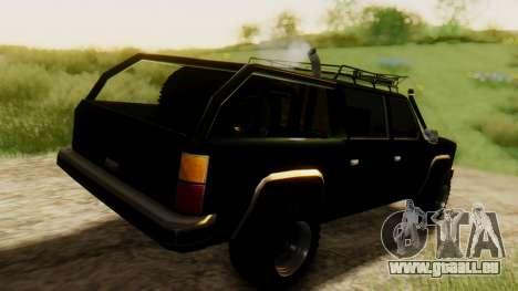 FBI Rancher Offroad für GTA San Andreas zurück linke Ansicht