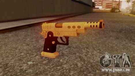 Chrome Hammer Pistol für GTA San Andreas