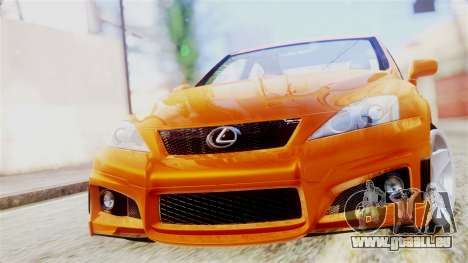 Lexus IS F für GTA San Andreas