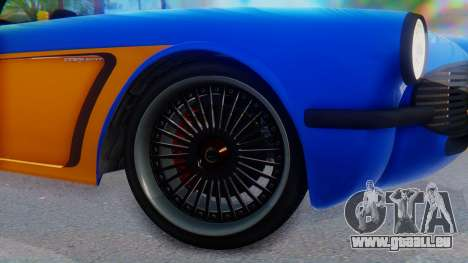 Invetero Coquette BlackFin v2 SA Plate pour GTA San Andreas sur la vue arrière gauche