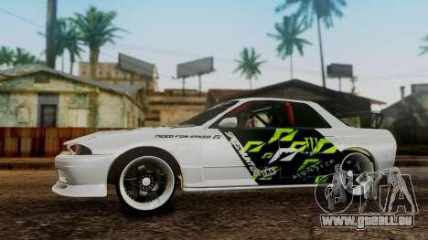 Nissan Skyline R32 Speedhunters pour GTA San Andreas vue de droite