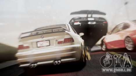 BMW M3 GTR Street Edition pour GTA San Andreas sur la vue arrière gauche