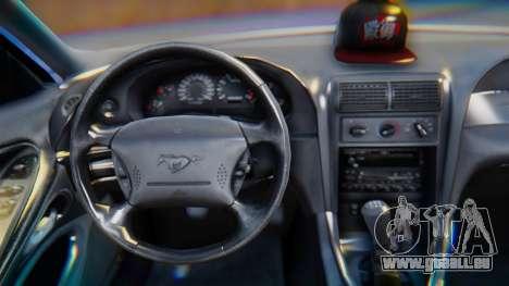 Ford Mustang 1999 Clean pour GTA San Andreas vue de droite