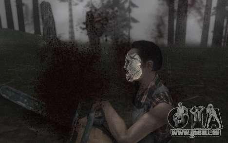 Le masque de Cuir pour GTA San Andreas quatrième écran