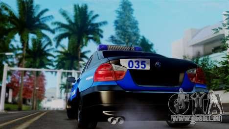 BMW 330i E46 YPX für GTA San Andreas Rückansicht